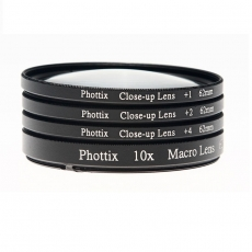 Phottix makro lęšiai (+1,+2,+4,10X) 62mm